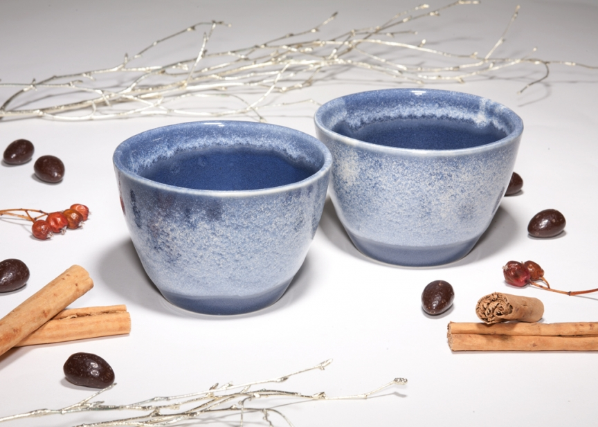 Set of Midnight Snow dessert bowls