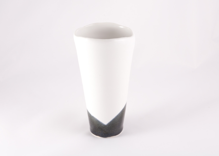 Whitenmoku shallow cut vase